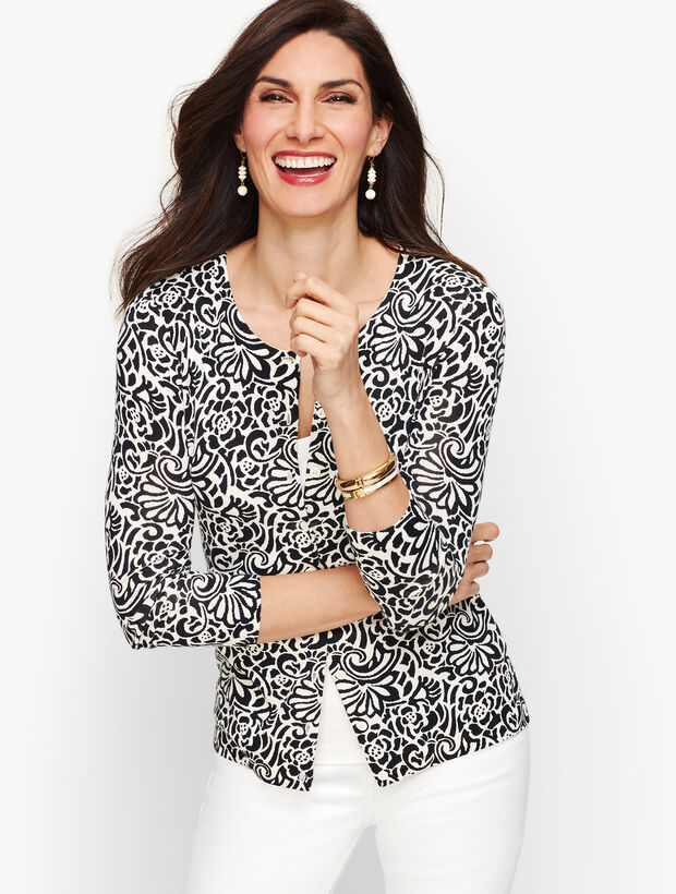Charming Cardigan - Abstract Floral