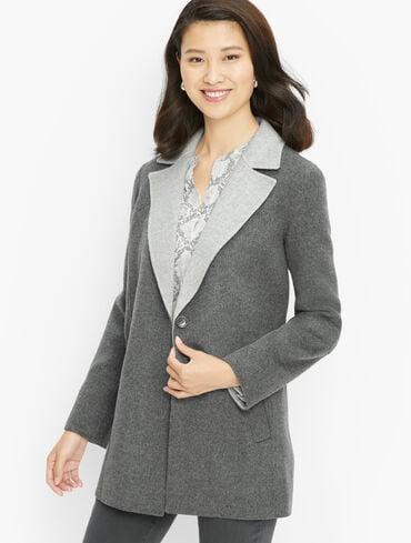 Double Faced Wool Blend Blazer