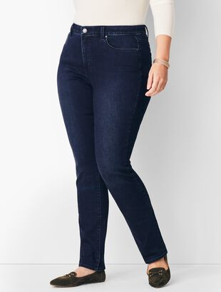 Plus Size Comfort Stretch High-Waist Straight-Leg Jeans - Marco Wash