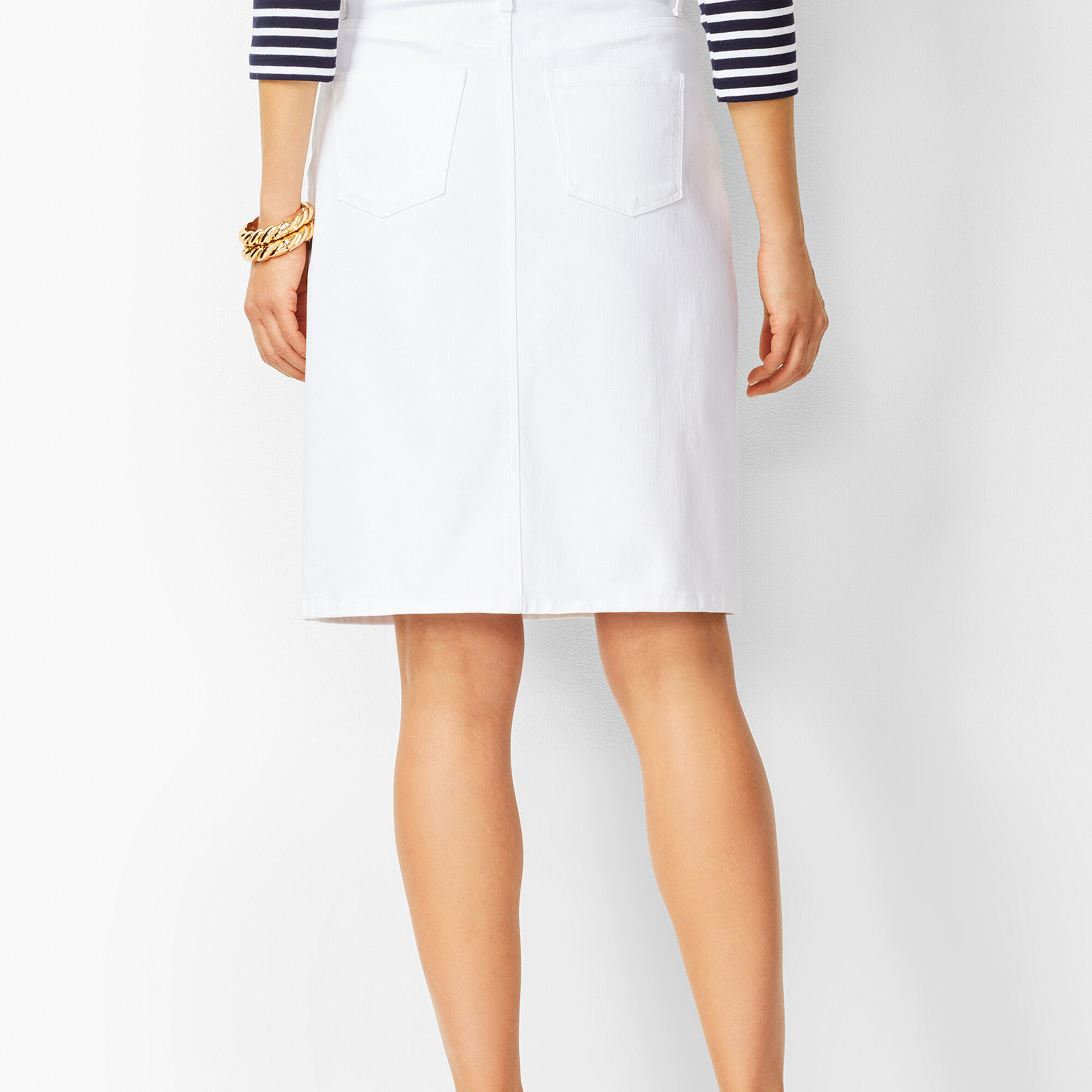 huge sale best selection of 100% satisfaction Classic Denim Skirt - White | Talbots