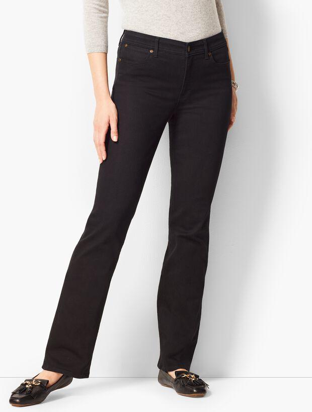 Comfort Stretch Denim Bootcut Full-Length Jeans - Black