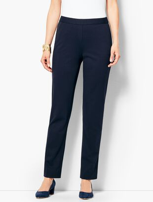 Refined Ponte Pull-On Slim-Leg Pant
