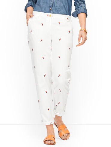 Relaxed Chinos - Parrot Print