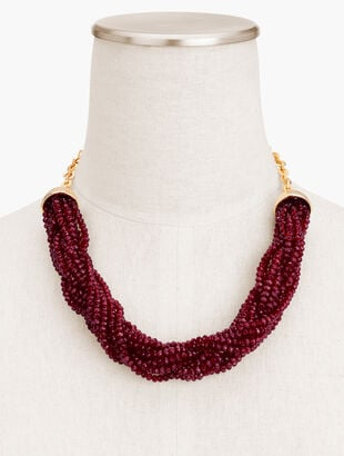 Red Pop Torsade Necklace