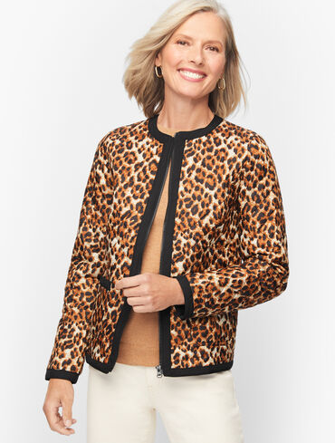 Animal Print Quilted Jacket