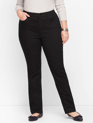 Plus Size Slim Ankle Jeans - Black