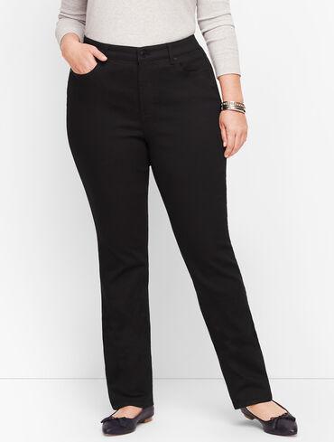 Plus Size Slim Ankle Jeans - Black