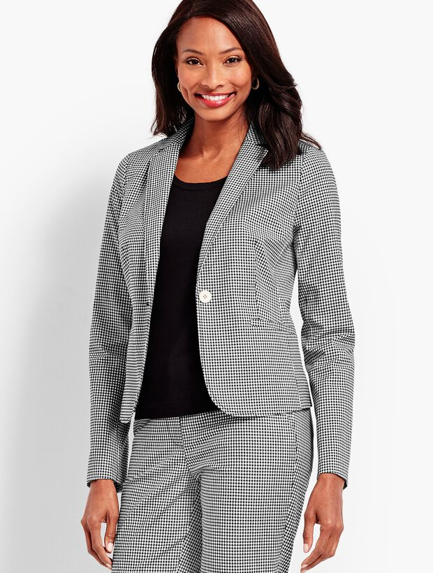 One-Button Jacket - Gingham
