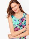 Filigree Floral Jersey Maxi Dress