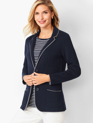 Tipped Sweater Jacket