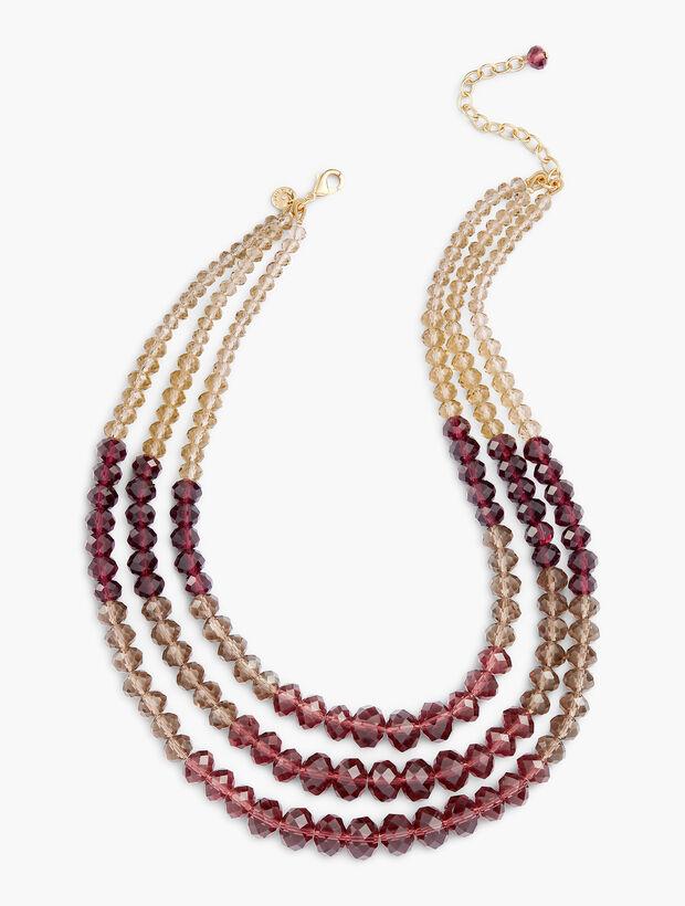 Three Strand Beaded Necklace