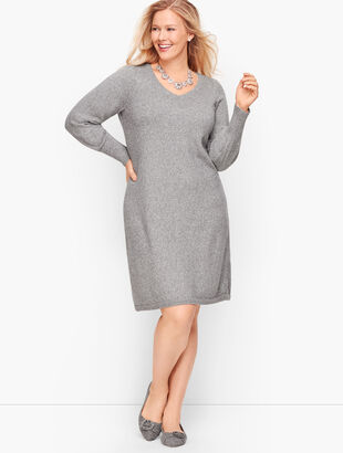 Poet Sleeve Shimmer Sweater Dress