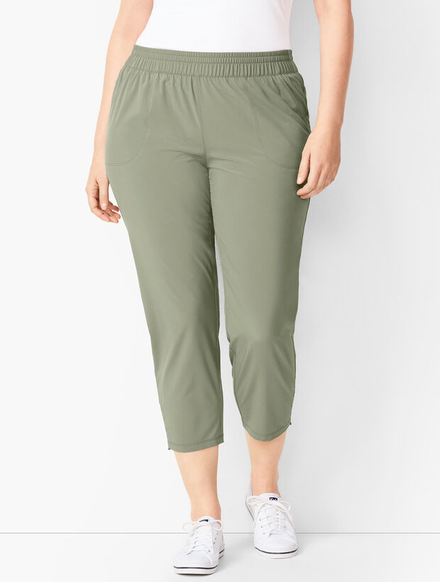 Lightweight Stretch Cinched-Hem Crops