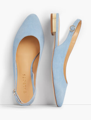 Edison Slingback Flats - Suede