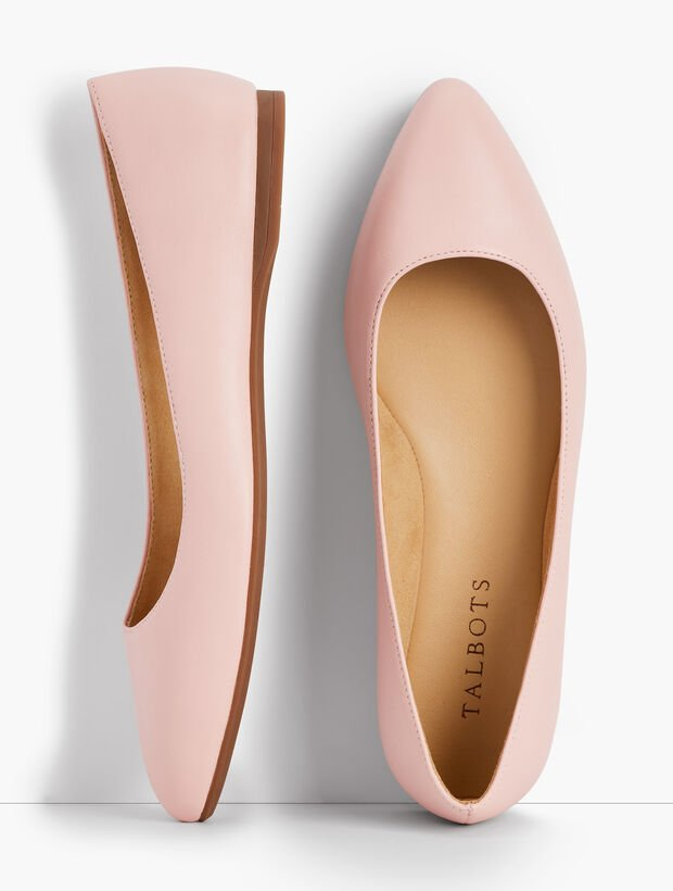 Poppy Pointed-Toe Ballet Flats - Nappa Leather