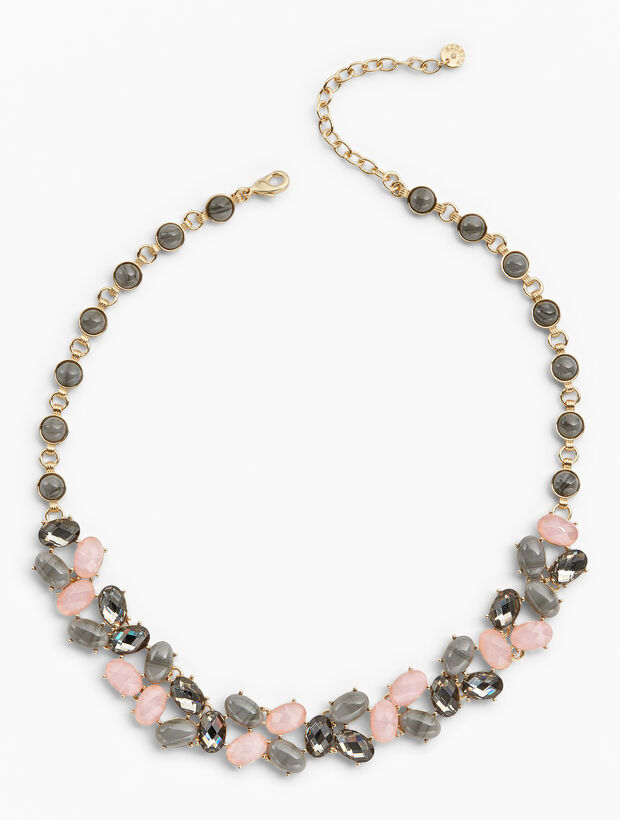 Pink & Neutral Statement Necklace