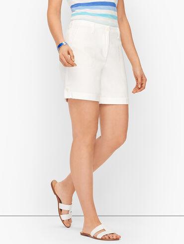 "Summer Slub Cargo Shorts - 6"" - Solid"