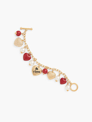 Je T'aime Charm Bracelet