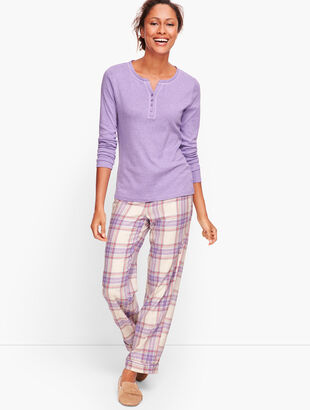 Pajama Set - Brushed Plaid