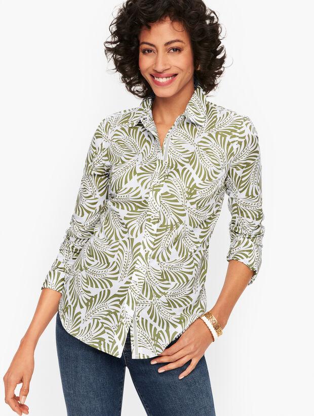 Classic Cotton Shirt - Fan Leaves
