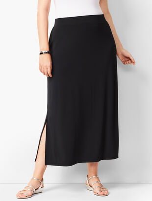 Plus-Size Knit Jersey Maxi Skirt
