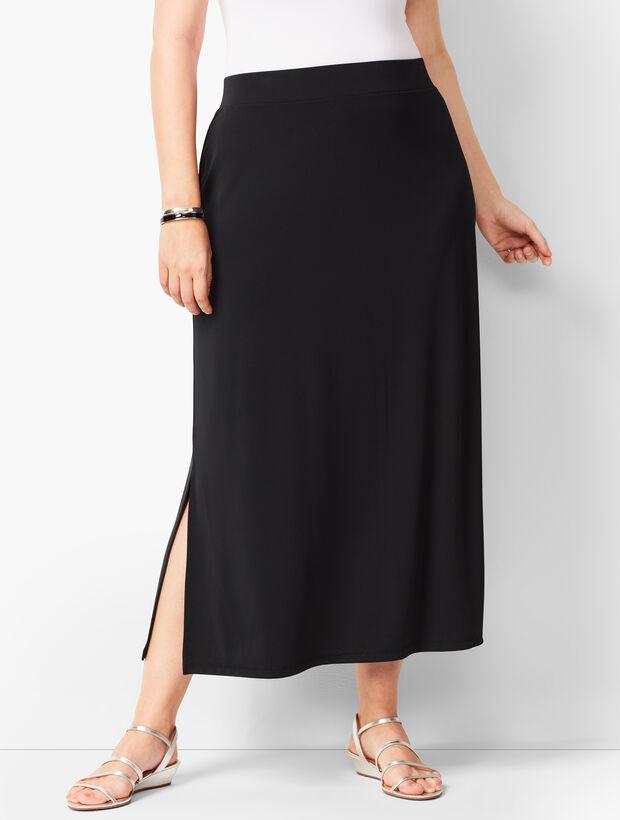 d686ba1e992f Plus-Size Knit Jersey Maxi Skirt   Talbots