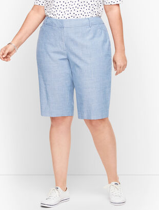 "Perfect Shorts - 13"" - Newport Chambray"