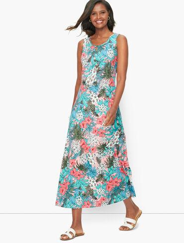 Floral Jungle Jersey Maxi Dress