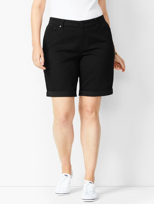 Girlfriend Jean Shorts -Black Onyx Stretch/Curvy Fit