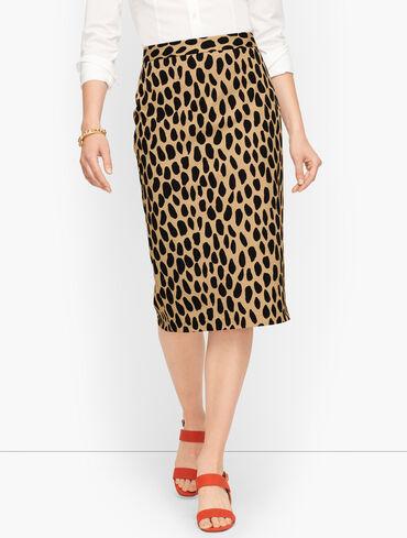 Pencil Skirt - Cheetah Spots