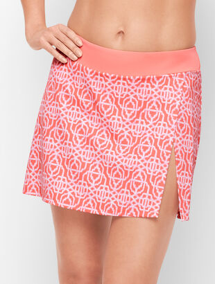 Cabana Life® Vented Swim Skirt - Coral Lattice