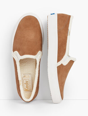 Keds® Double Decker Suede Slip-On Sneakers