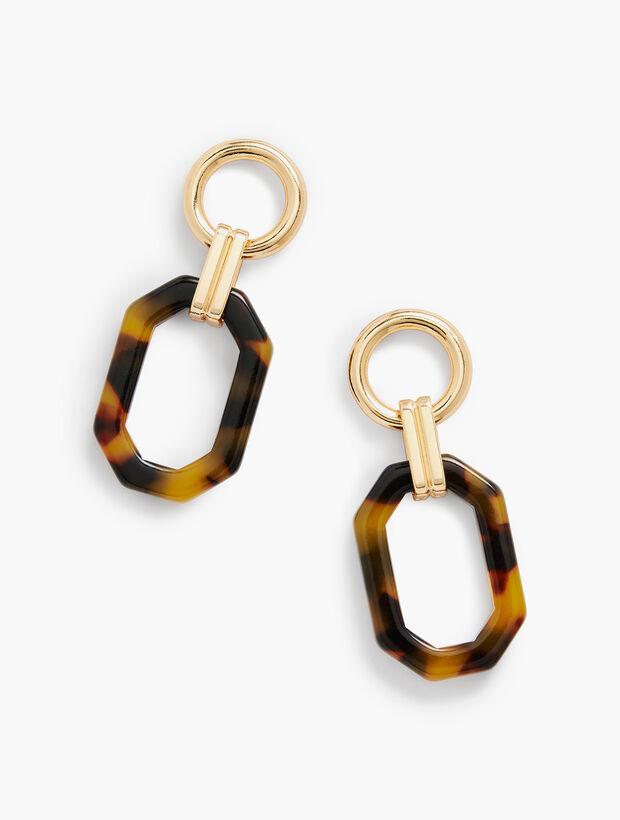 Tortoise Link Earrings