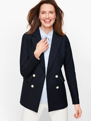 Double Breasted Oxford Blazer