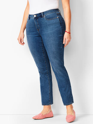 Plus Size Exclusive Slim Ankle Jeans - Equinox Wash