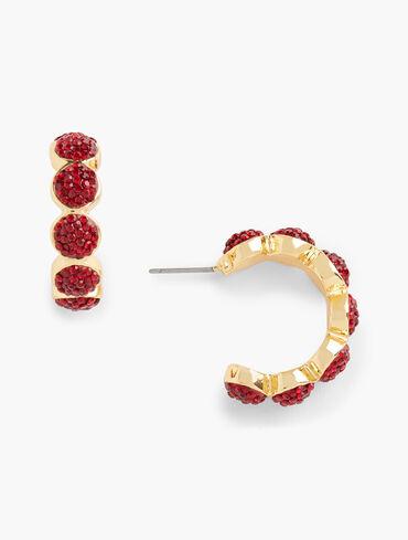 Caviar Sparkle Hoop Earrings
