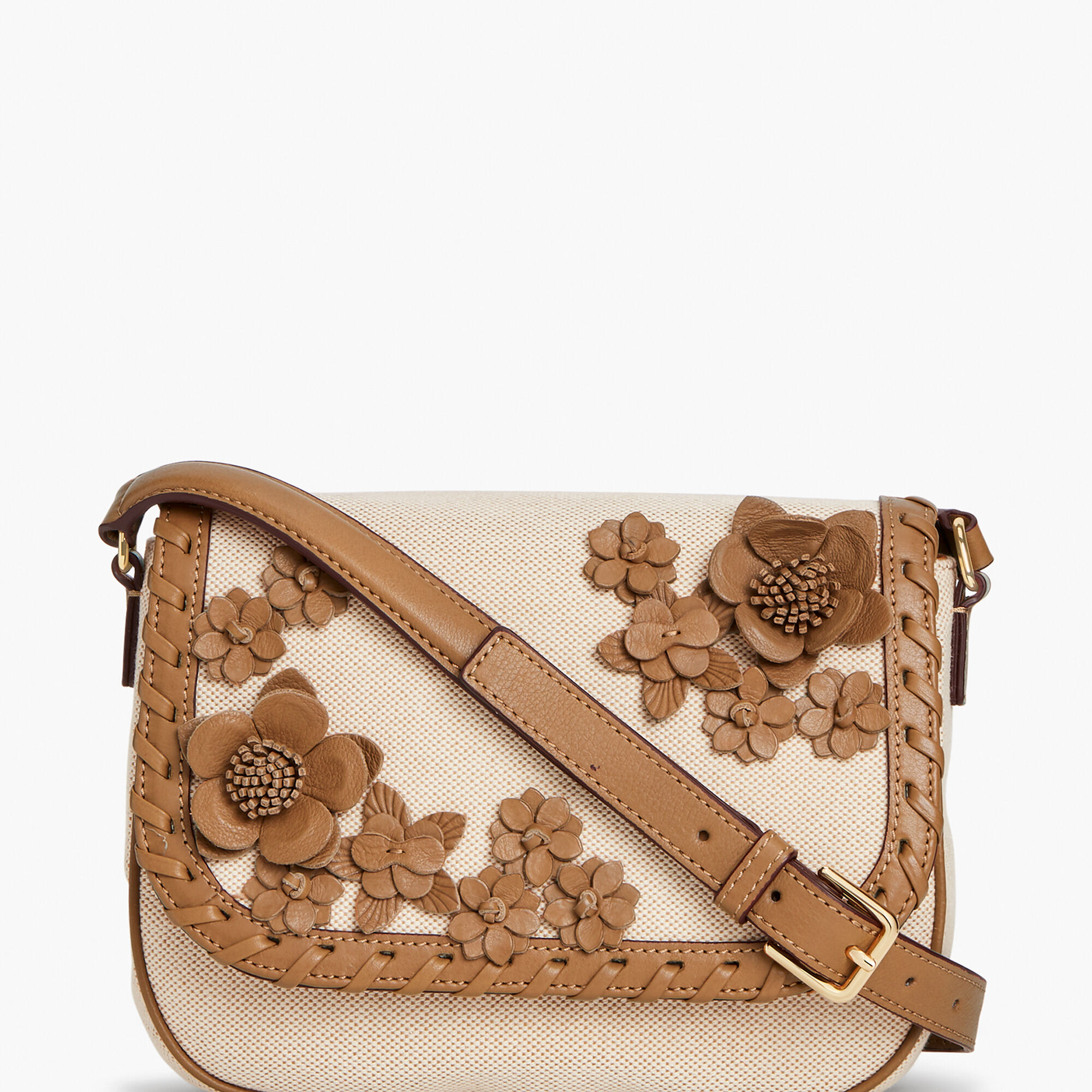 14dc85bdd54b Canvas Leather Floral Crossbody Bag Opens a New Window.