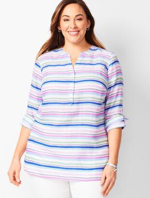 Linen Camp Shirt - Stripe
