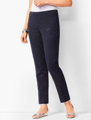 Matelassé Tailored Ankle Pants