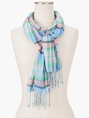 Magical Madras Oblong Scarf