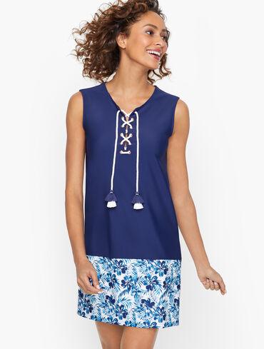 Cabana Life® Lace-Up Beach Dress