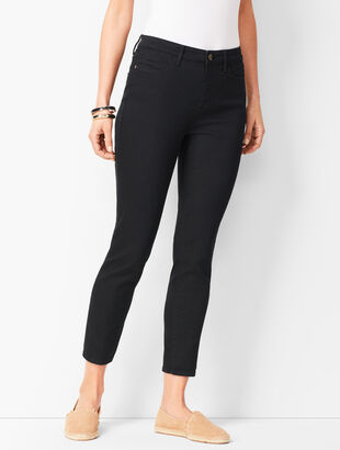 Denim Jegging Crops - Black