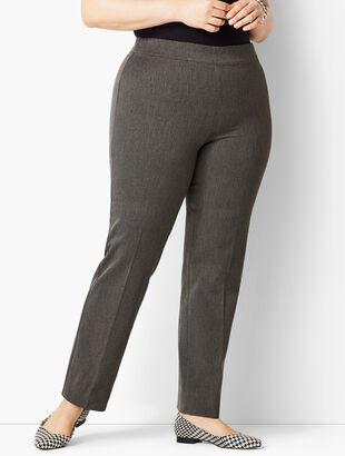 Plus Size Refined Bi-Stretch Pull-On Straight Leg Pant
