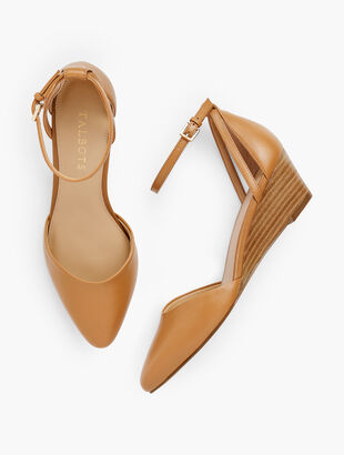 Laney D'Orsay Nappa Wedges