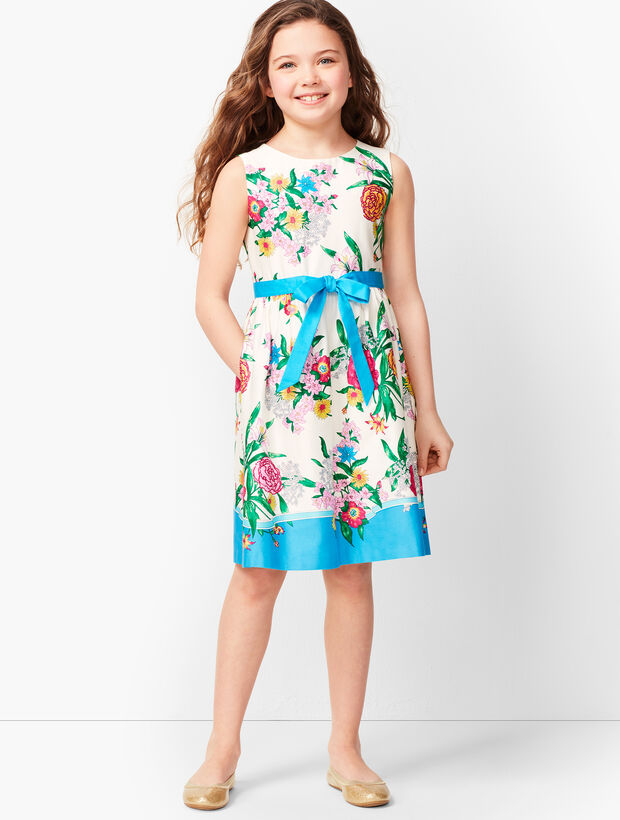 Girls Blossoms Fit & Flare Dress