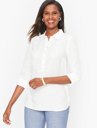 Linen Popover Shirt - Solid