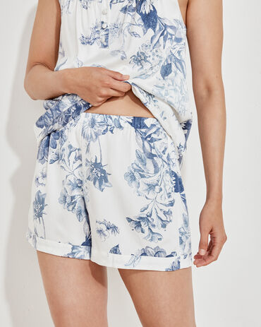 Washable Silk Blooming Toile Shorts
