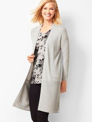 Open-Front Merino Wool Cardigan