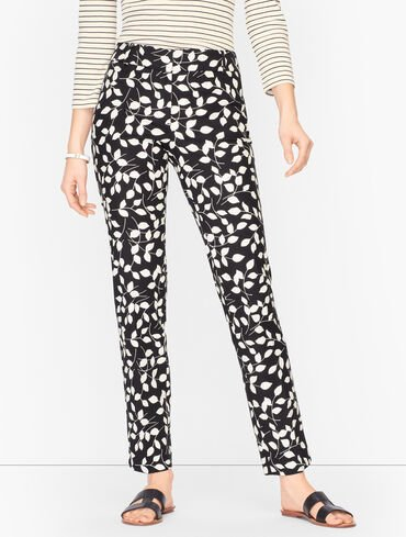 Talbots Hampshire Ankle Pants - Abstract Leaves