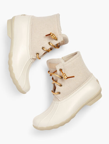 Sperry® Saltwater Sparkle Rubber Rain Boots